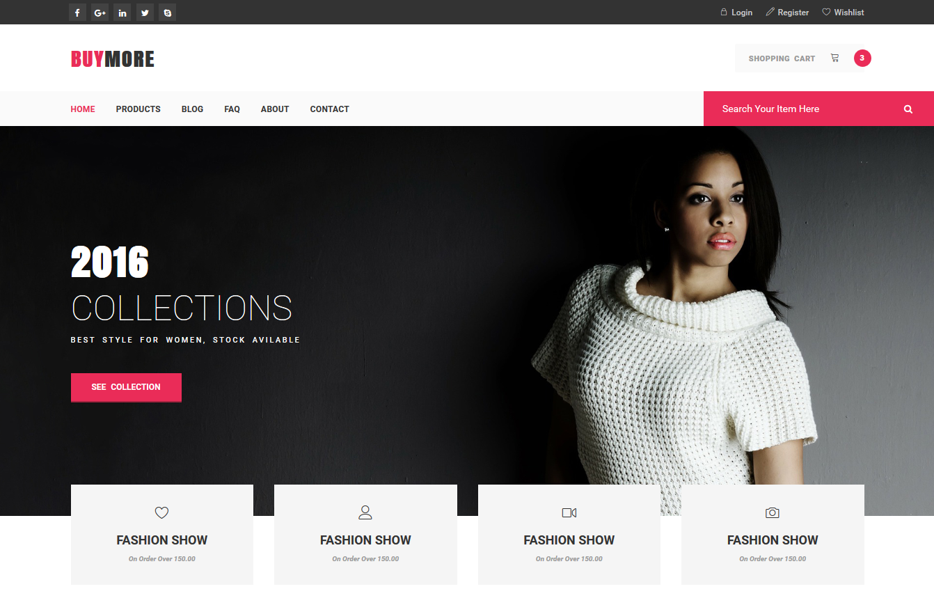 Buymore Bootstrap E Commerce Template Script Eden