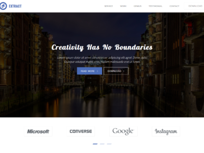 Extract – One Page Free Bootstrap Tamplate