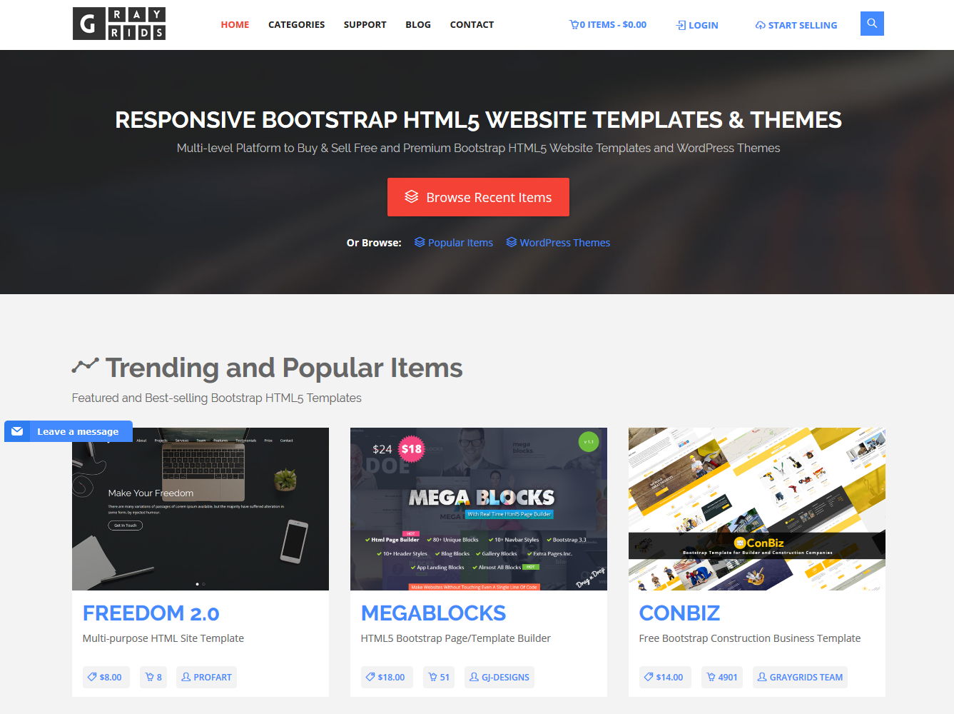 Best Bootstrap Themes Templates Marketplaces To Buy And Sell - Html5 web page template