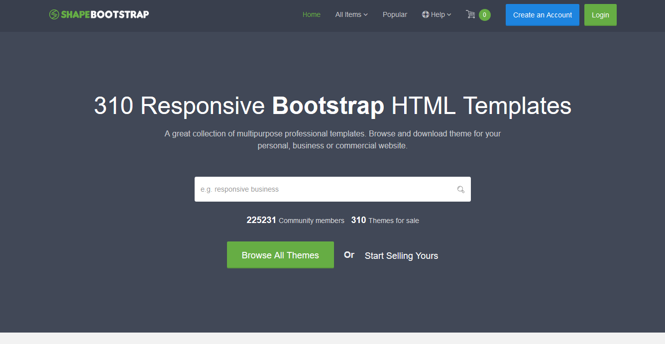 10 best bootstrap themes templates marketplaces to buy and sell
