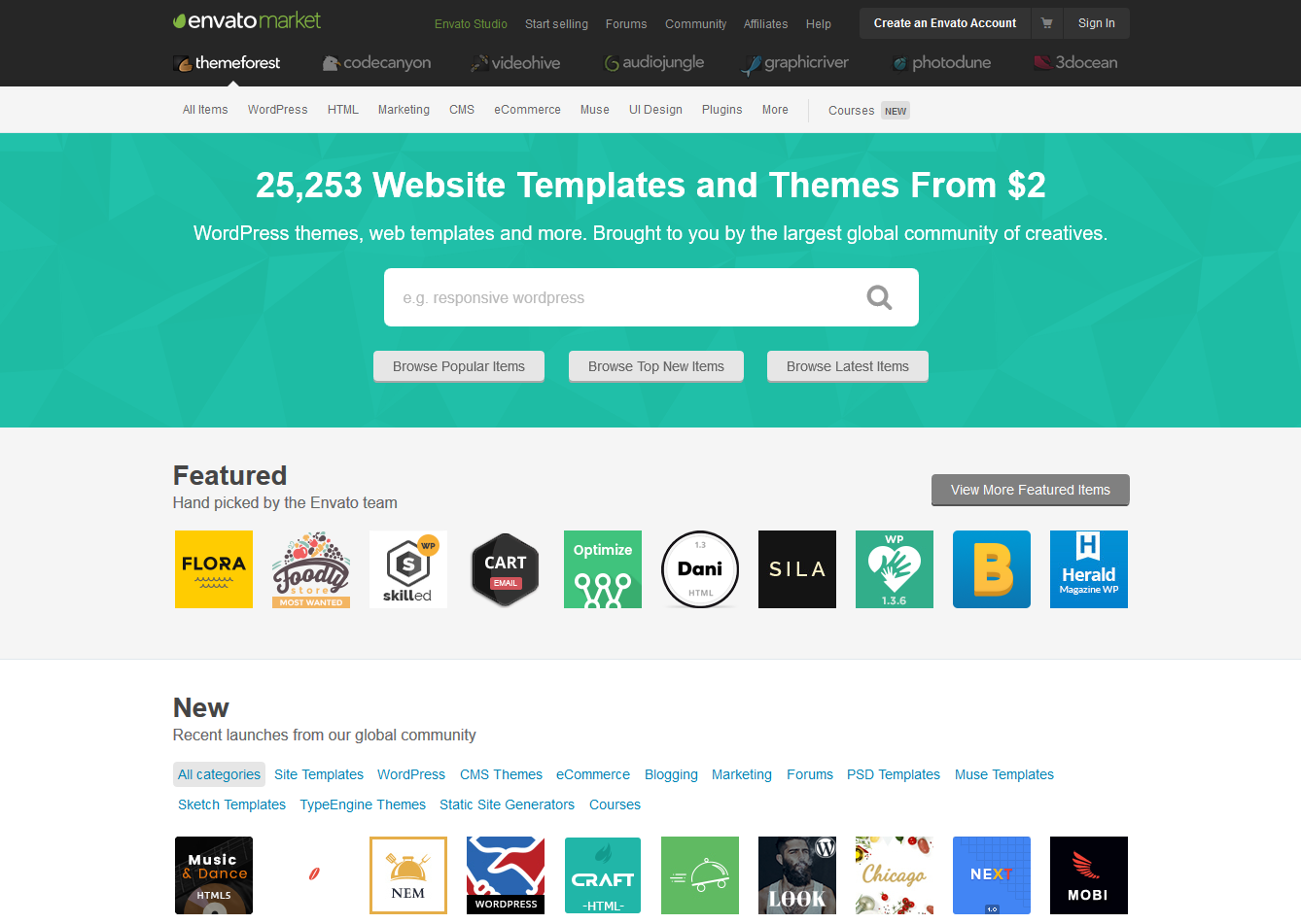 Best Bootstrap Themes Templates Marketplaces To Buy And Sell - Buy ecommerce website templates