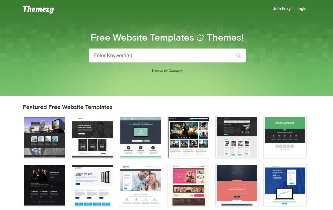 templates for websites