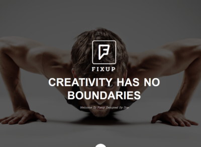 FixUp – Responsive Bootstrap Landing Page