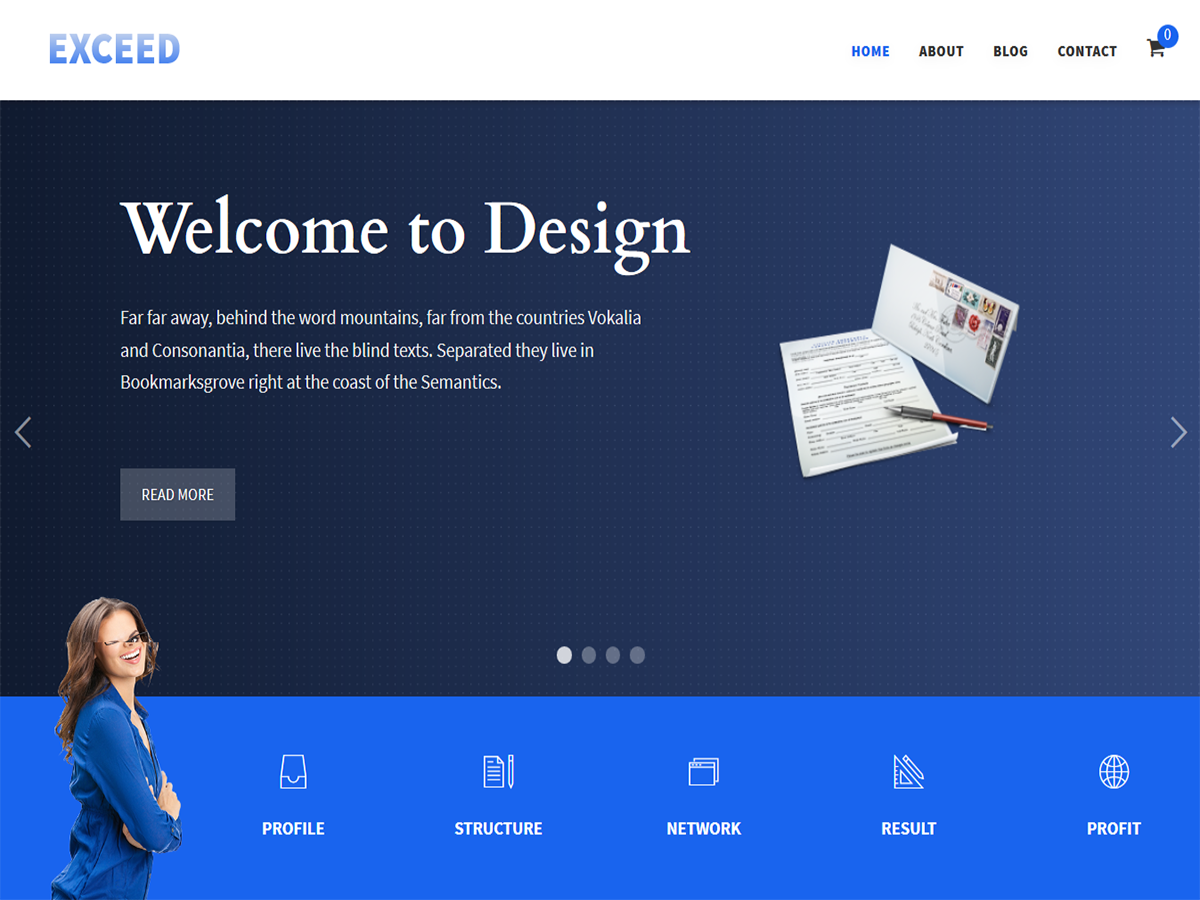 Exceed Responsive Website Template Script Eden - Word website template