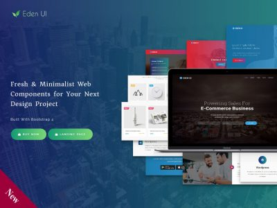 Eden UI 2.0 – Drag and Drop Bootstrap Template Builder