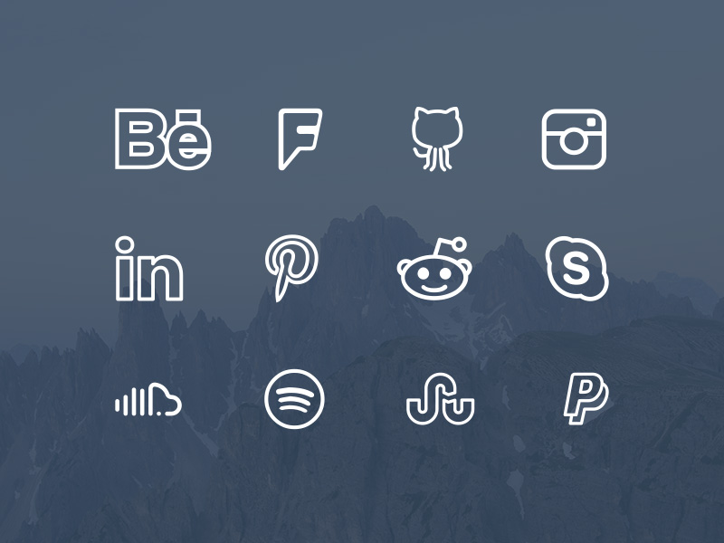 The 10 Best Excellent Free Flat Social Media Icons
