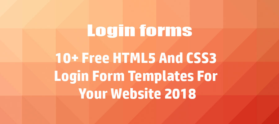 10+Free-HTML5-And-CSS3-Login-Forms-For-Your-Website-2018