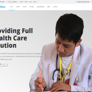 MediMax - Responsive Bootstrap Template