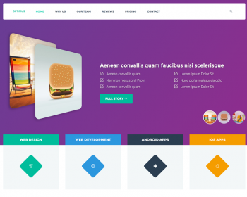 Optimus - Clean Corporate Bootstrap Template