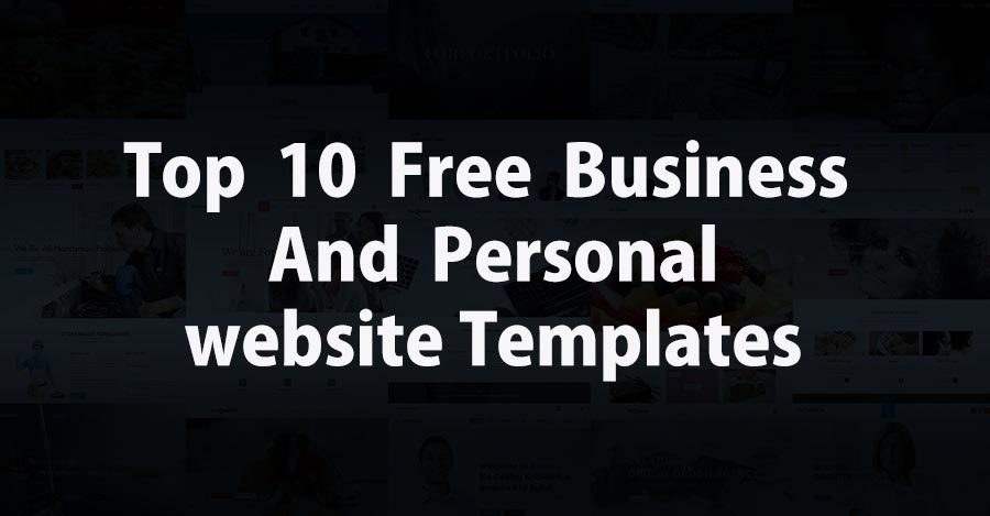 Top Free Responsive Website Templates For Professional And - Free responsive personal website templates