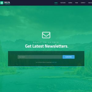 Delta - Responsive Bootstrap template