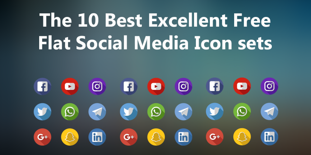 The 10 best excellent free flat social media icons sets for web the 10 best excellent free flat social media icons sets for web illustrator photoshop colourmoves