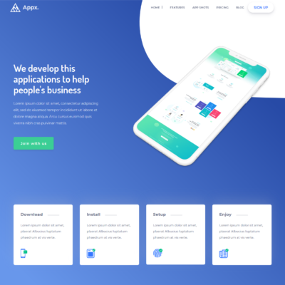 Appx- App Landing Page Template