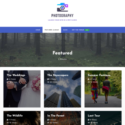 WordPress Portfolio/Photography Theme