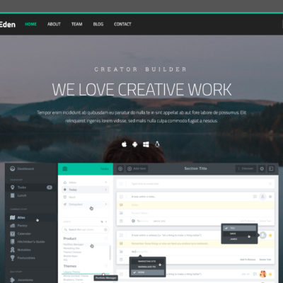 Eden Builder - Drag And Drop HTML Builder