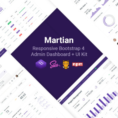 Martian - Developer-friendly Bootstrap 4 Admin Dashboard + UI Kit